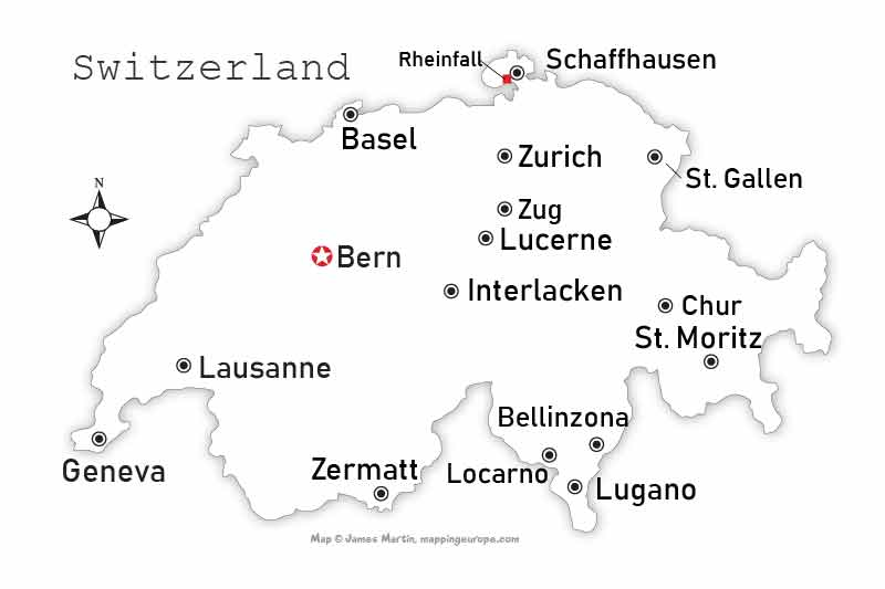 Gstaad Map Gstaad Saanenland Switzerland Travel Guide