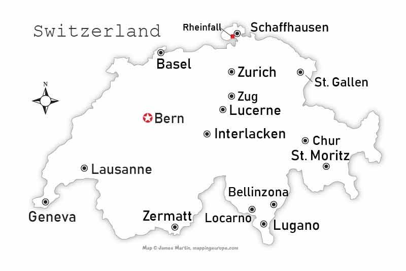 Gstaad Map | Gstaad - Saanenland Switzerland Travel Guide