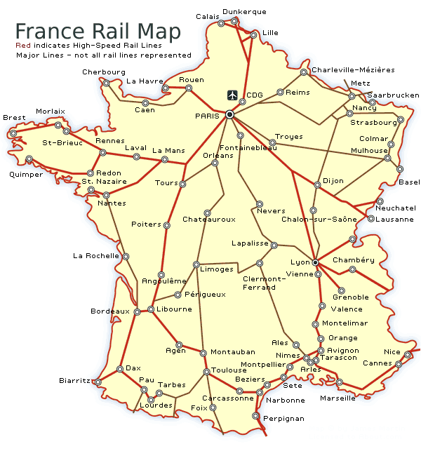 france train route map