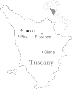 lucca map, lucca location map, lucca italy