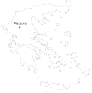 meteora location map