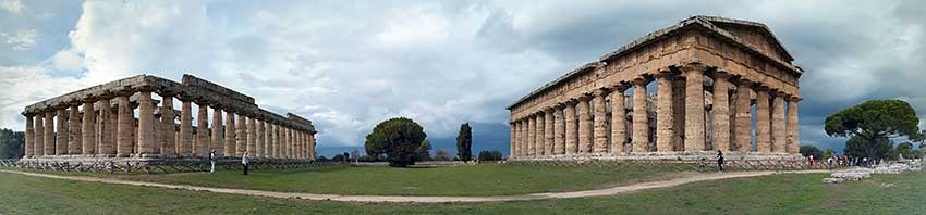 paestum temple panorama