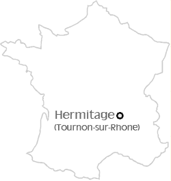 hermitage and tournon sur rhone map