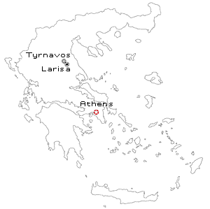 tyrnavos greece location map