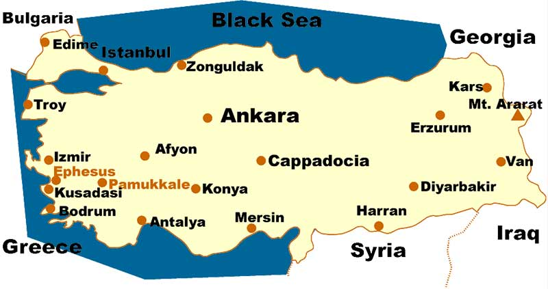 turkey cities map